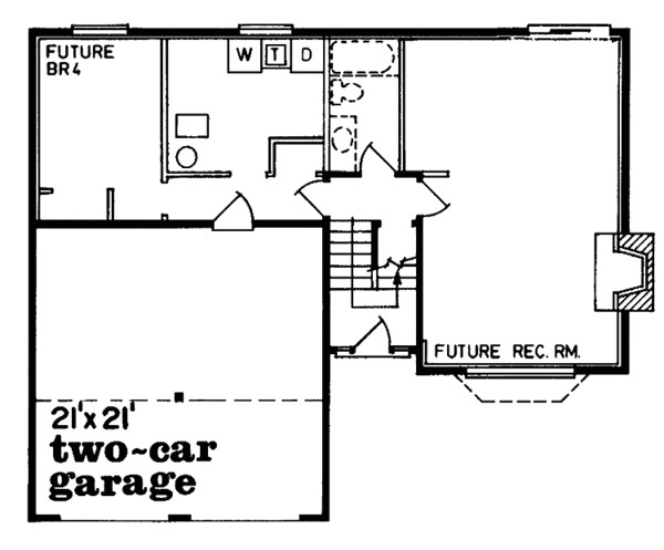 1150 square feet 3 bedrooms 2 bathroom traditional house plans 2 garage 10621