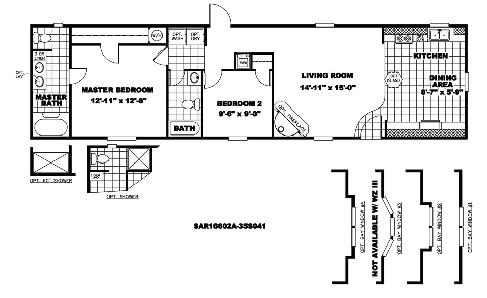 16×60 Mobile Home Floor Plans 16 X 60 Mobile Home Floor Plans Mobile Homes Ideas