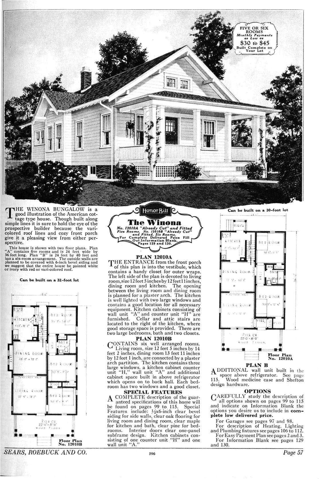 1940 bungalow house plans