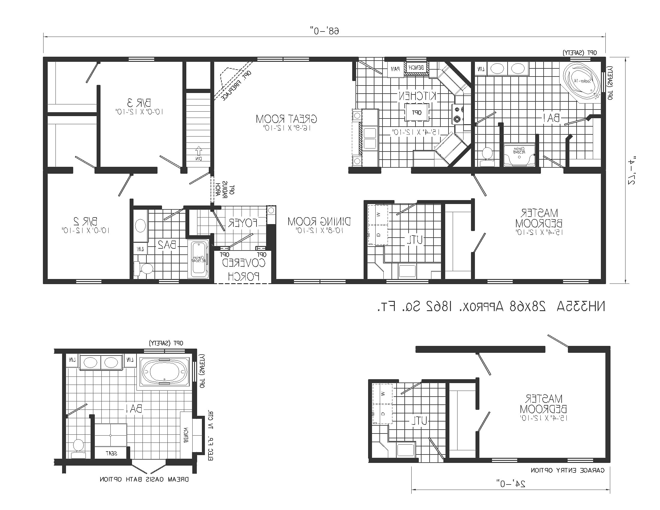 2 bedroom bath house plans with wrap around porch