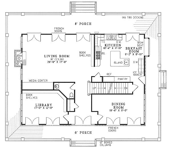 2 bedroom house plans wrap around porch