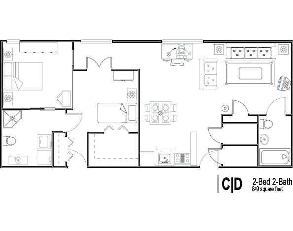 2 bedroom retirement house plans