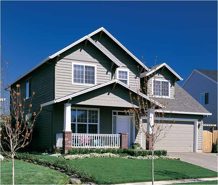 craftsman style house plans two story