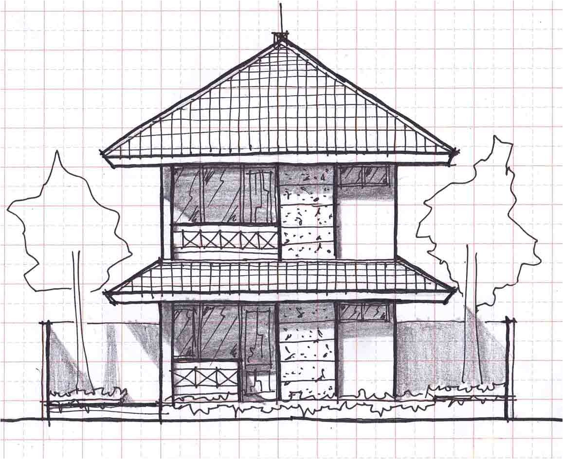 small two story house plans 12mx20m