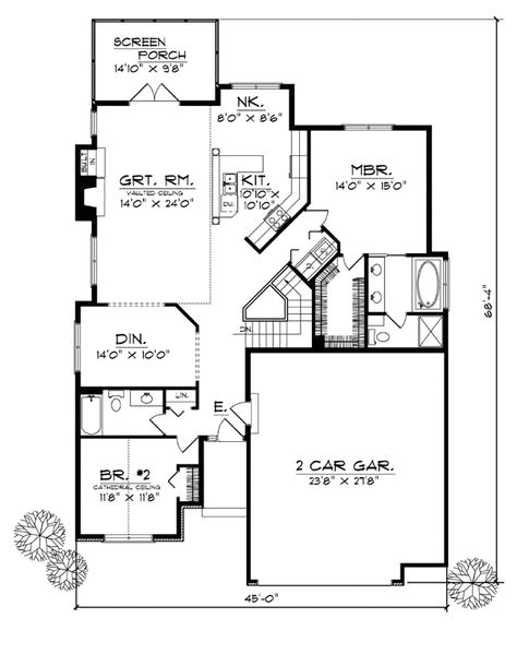 25 wide house plans