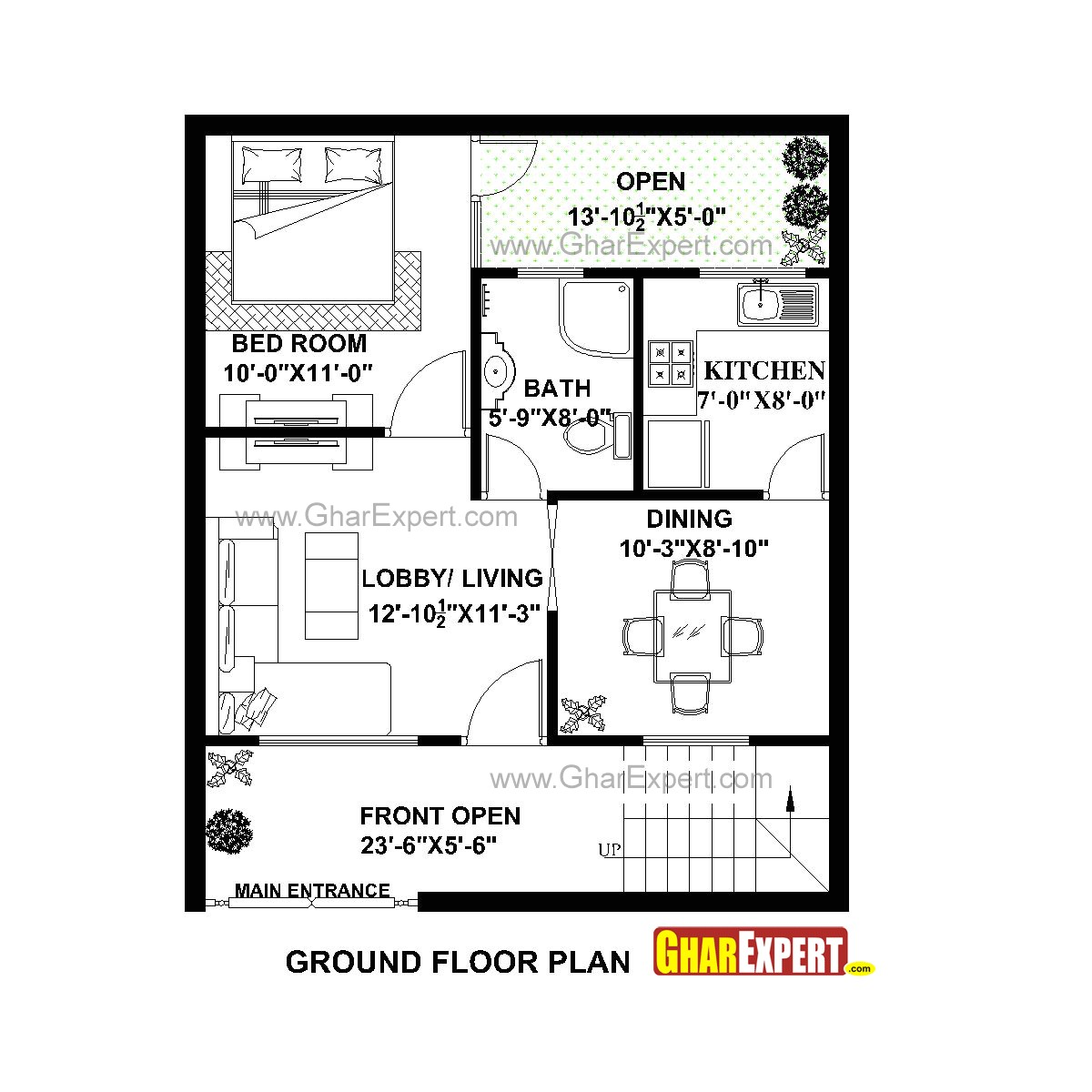 plan for 25 feet by 30 feet plot plot size 83 square yards plan code 1631