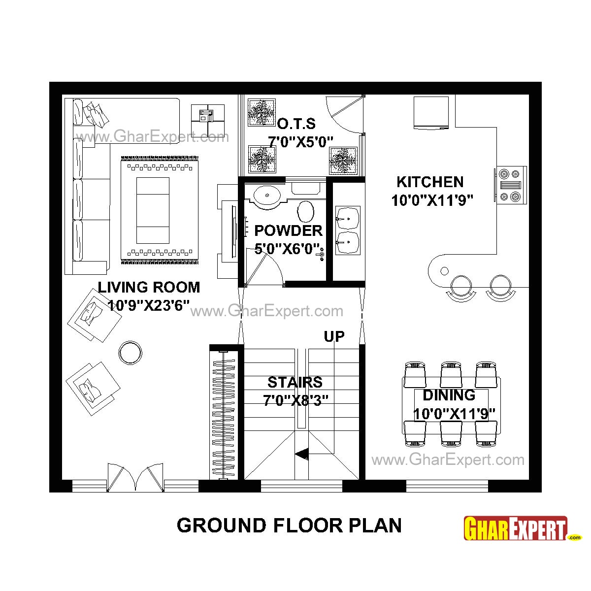plan for 30 feet by 25 feet plot plot size 83 square yards plan code 1633