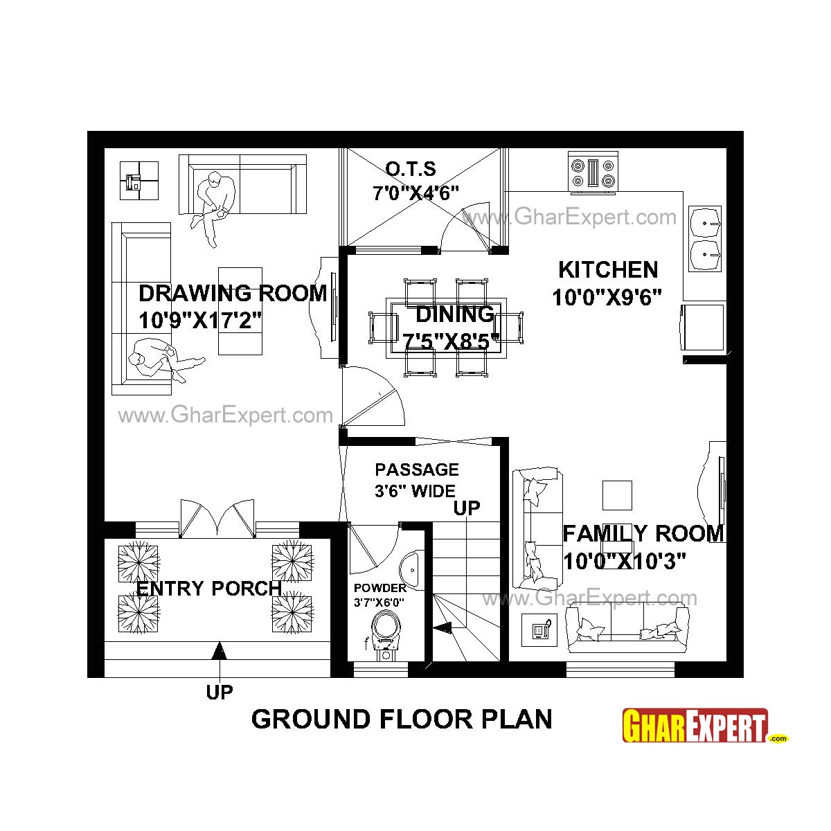 plan for 30 feet by 25 feet plot plot size 83 square yards plan code 1651