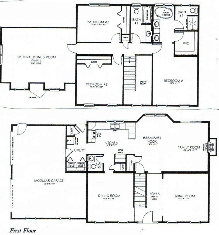 house plans 2 story 3 bedrooms lovely 3 bedrooms 1 story 2201 2700 square feet house plan 2755
