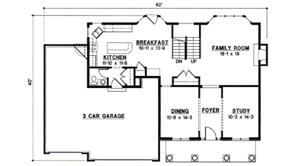 2700 square feet 4 bedrooms 3 bathroom traditional house plans 3 garage 13373