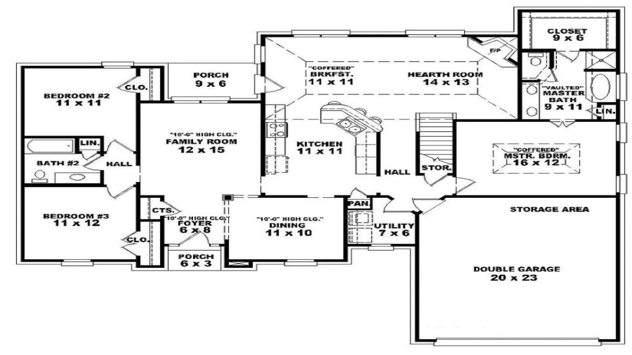 cff4bf7927705e55 3 bedroom townhouse for rent 3 bedroom one story open floor plans