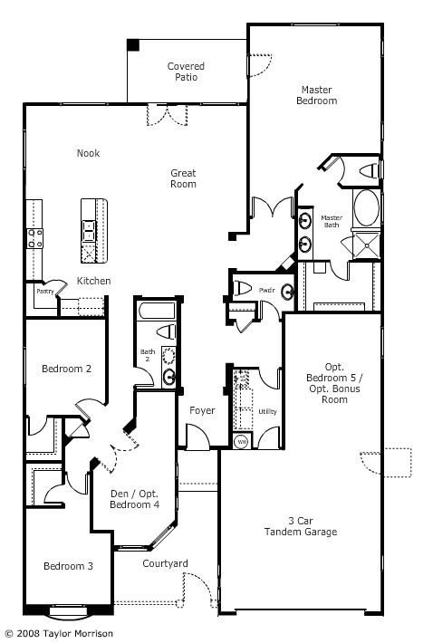 house plans with 4 car tandem garage