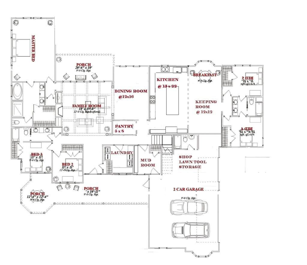 3000 Sq Ft 1 1/2 Story House Plans 3000 Sq Ft House Plans One Story 2018 House Plans and