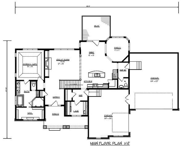 3000 square feet 3 bedrooms 2 5 bathroom craftsman home plans 3 garage 34528