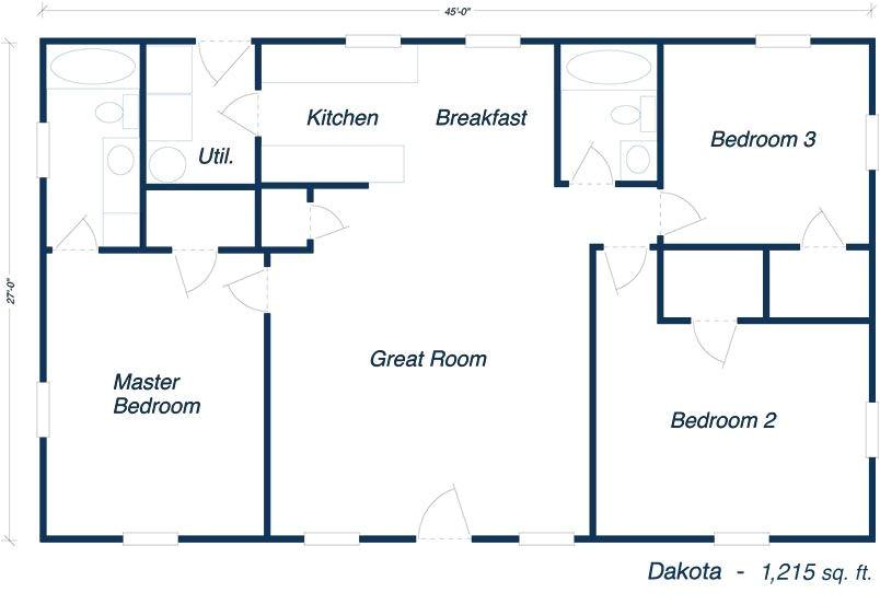 steel building home floor plans