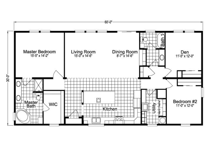 30 x 60 square feet house plans