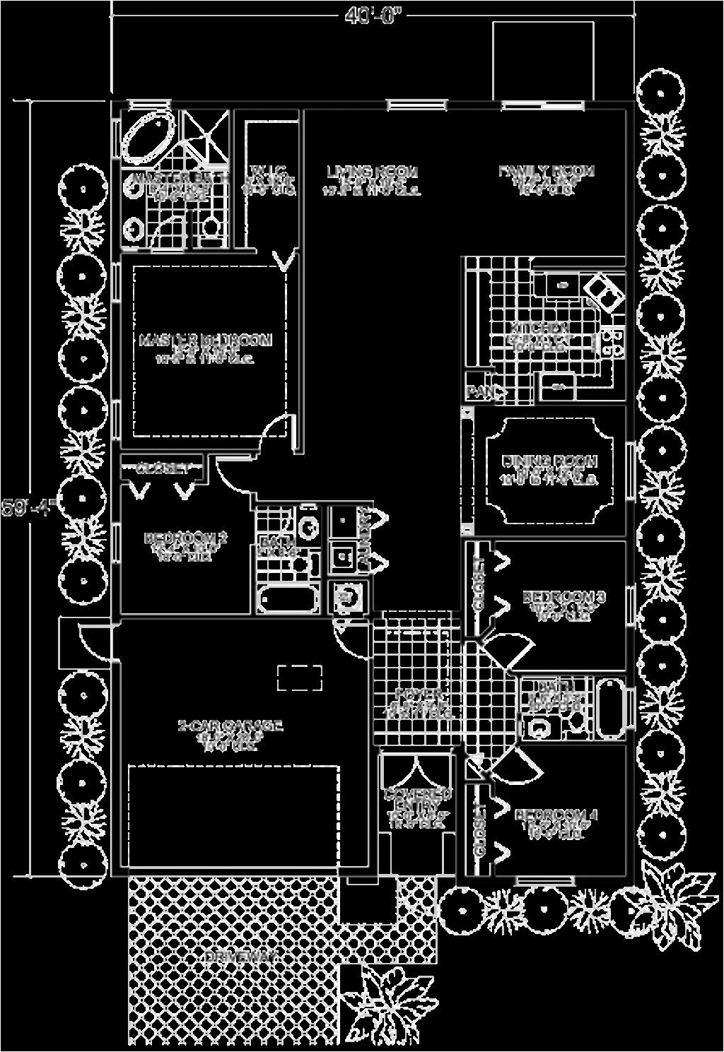 30x60 4 bedroom house plan