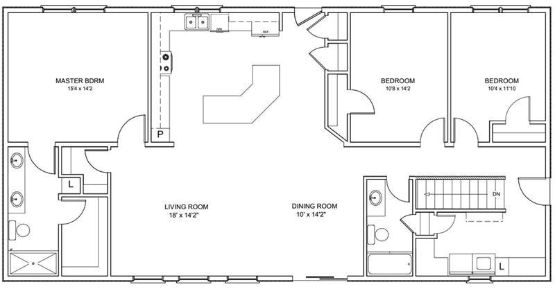 30x60 house floor plans