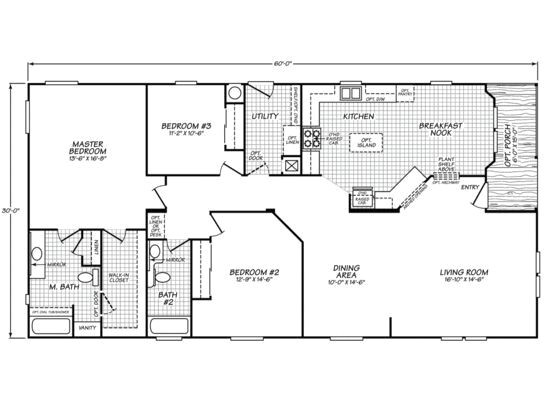 30×60 House Floor Plans Like This Floor Plan for A 30×60 Size Homes Pinterest