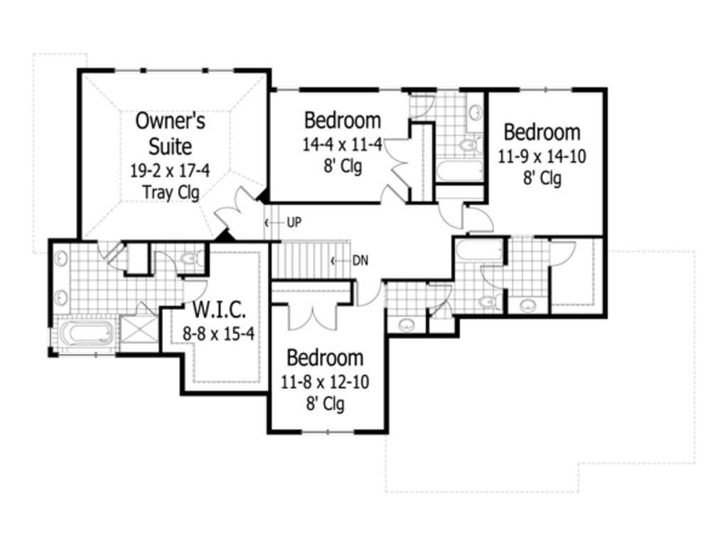 3500 square feet 4 bedrooms 3 5 bathroom cottage house plans 3 garage 34318