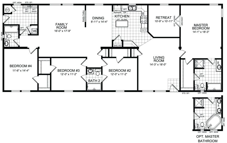 4 bedroom 3 5 bath house floor plans