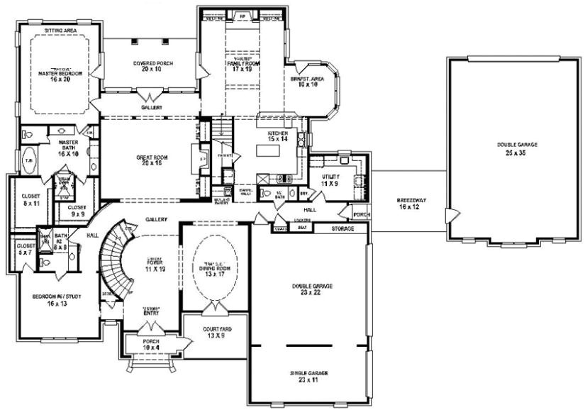 6 bedroom 4 bath house plans