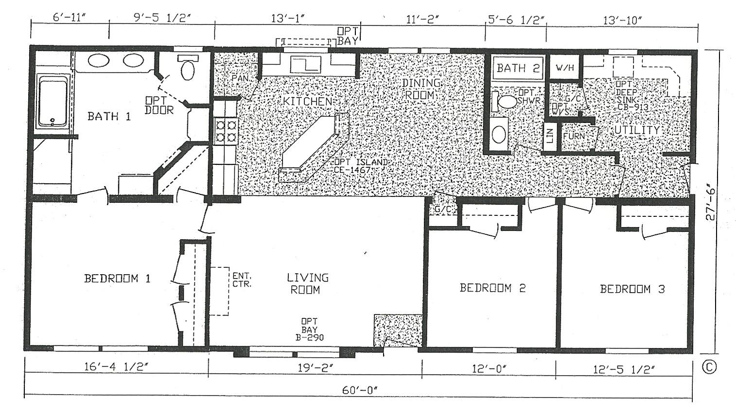 3 bedroom modular home plans