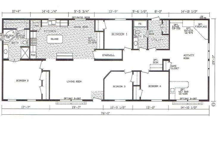 4 bedroom 3 bath modular home floor plans