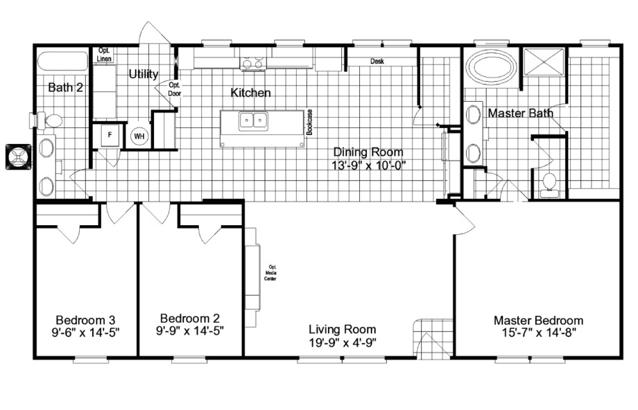 the kensington mlk manufactured home floor plan or modular also 4 bedroom double wide mobile plans
