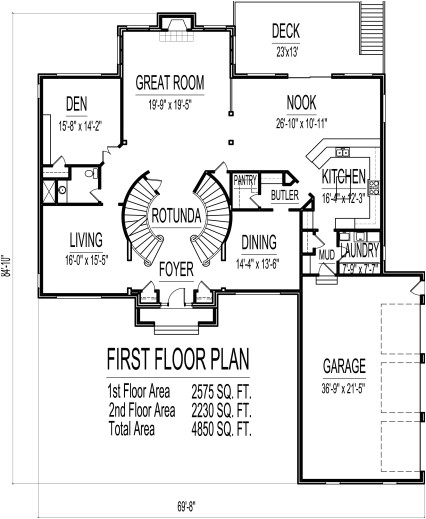 fantastic 4500 square foot house floor plans 5 bedroom 2 story double stairs imiges for double storied 1500 sq feet banglows pics