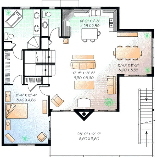 2392 sq ft home 2 story 5 bedroom 3 bath house plans plan5 846