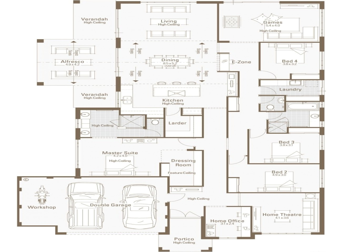 3f93d2ec4178cf80 5 bedroom modular home plans floor home house plans with office