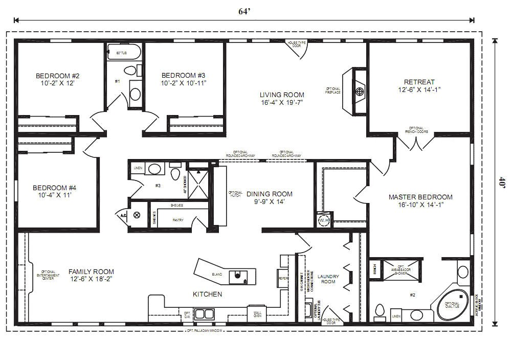 5 Bedroom Modular Home Plans Modular Home Plans 4 Bedrooms Mobile Homes Ideas Open