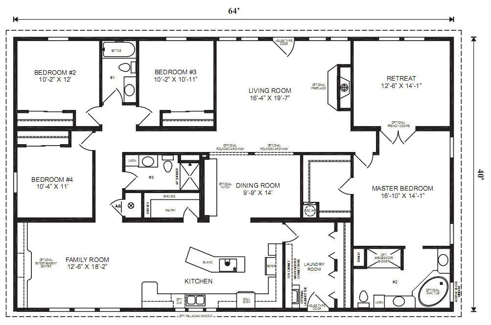 modular home plans 4 bedrooms mobile homes ideas 01af1c13132a16dd