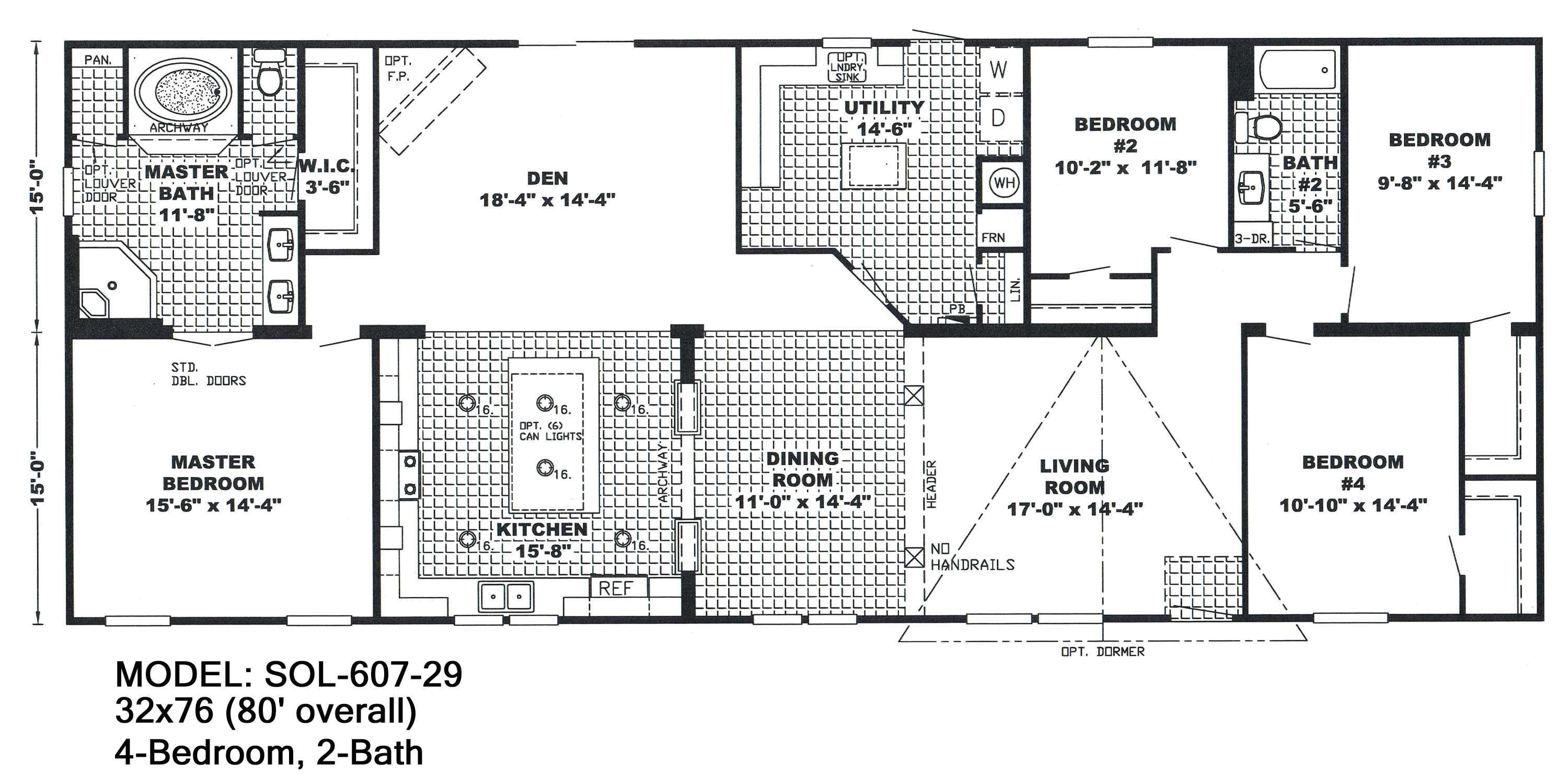 6 bedroom mobile homes floor plans
