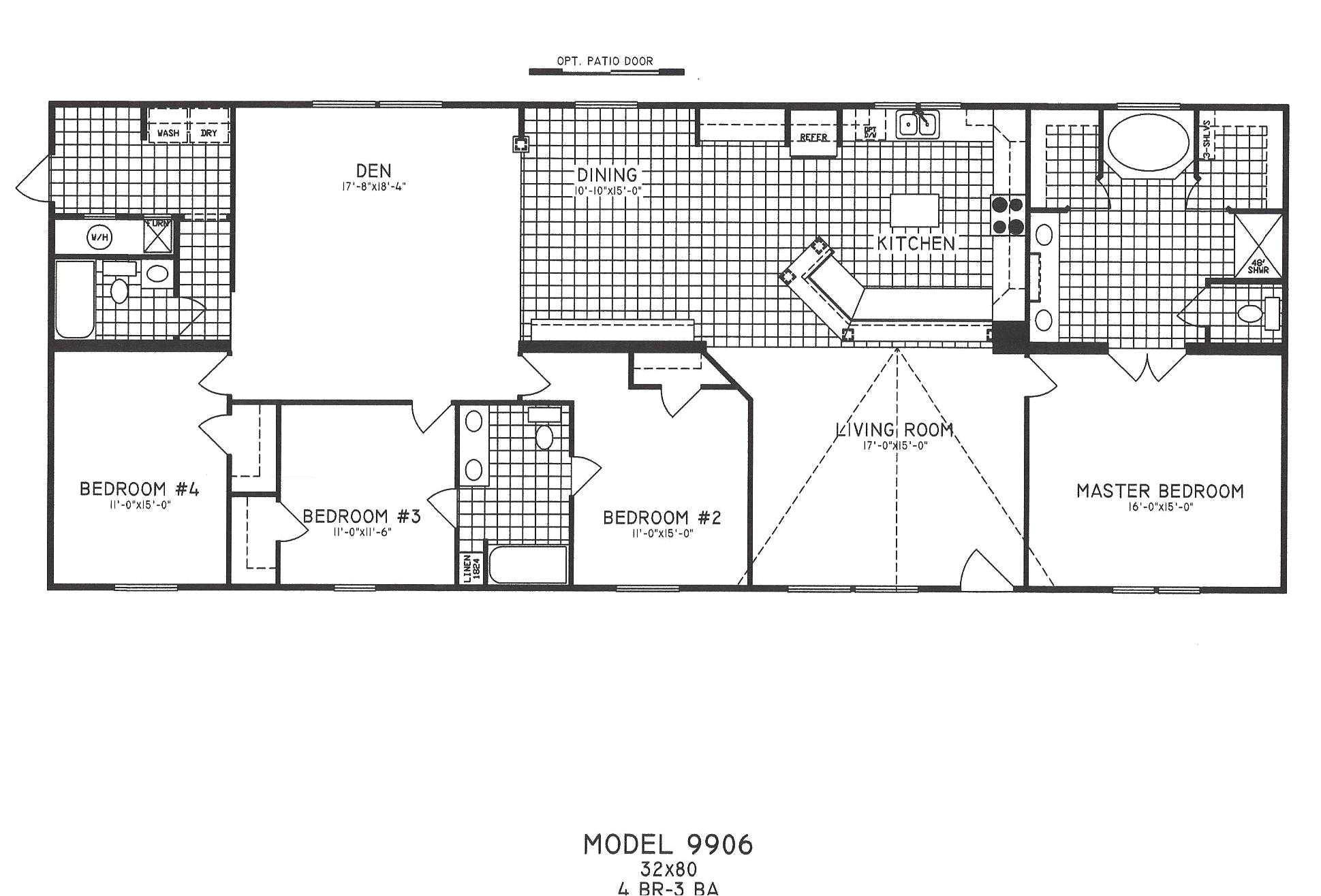 6 Bedroom Manufactured Home Floor Plan | plougonver.com