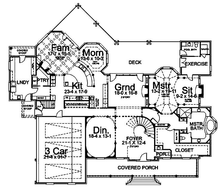 6000 square foot home floor plans