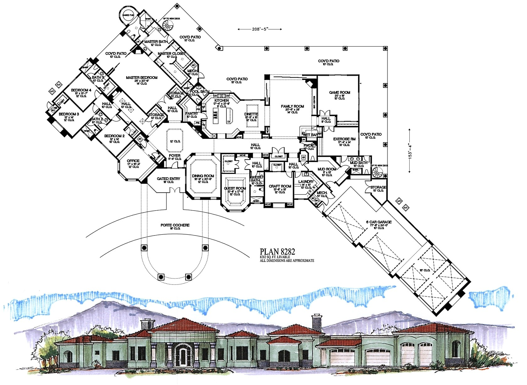 6000 square foot ranch house plans