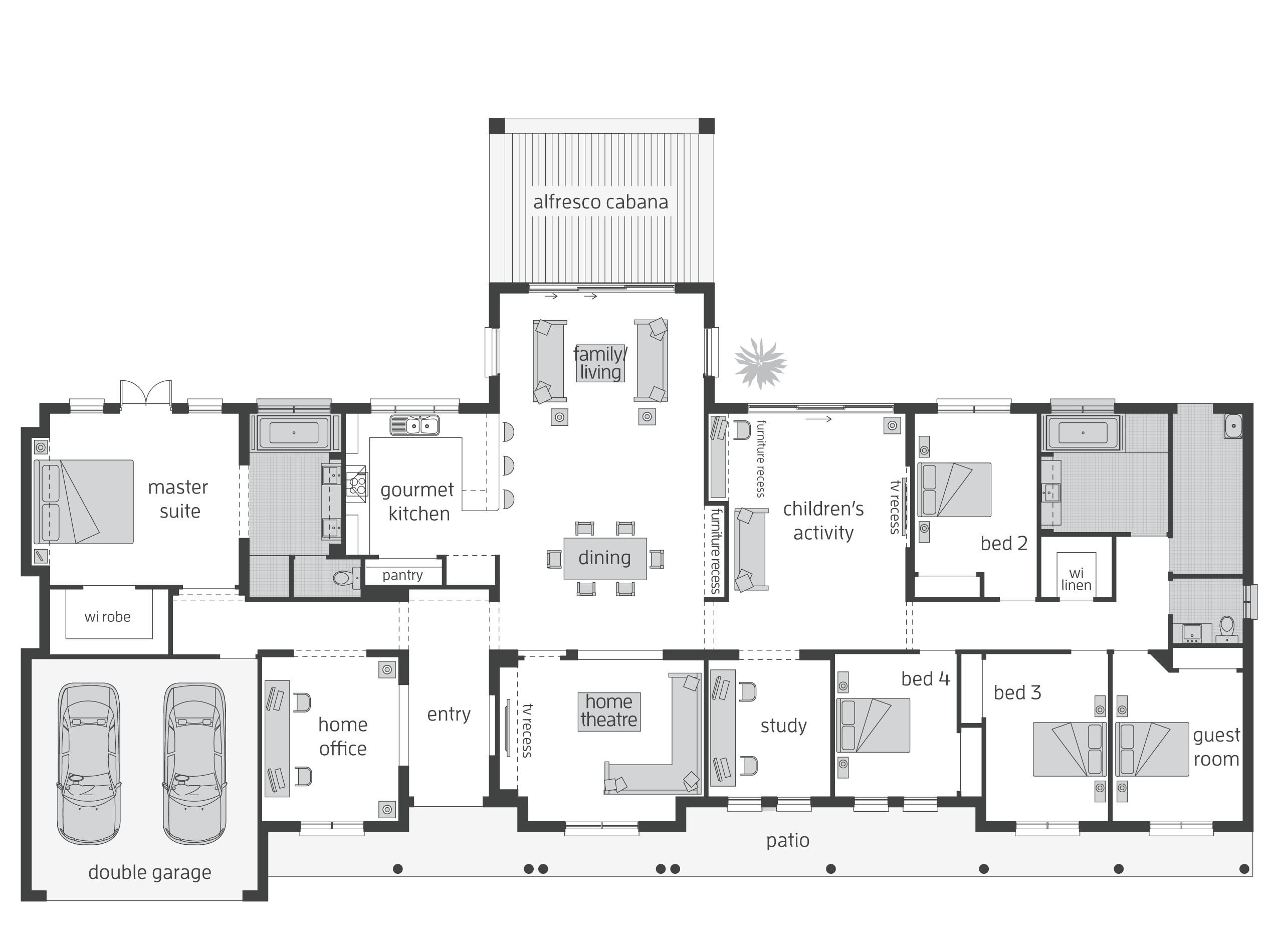 Acreage Homes Floor Plans Bronte Act Floorplans Mcdonald Jones Homes