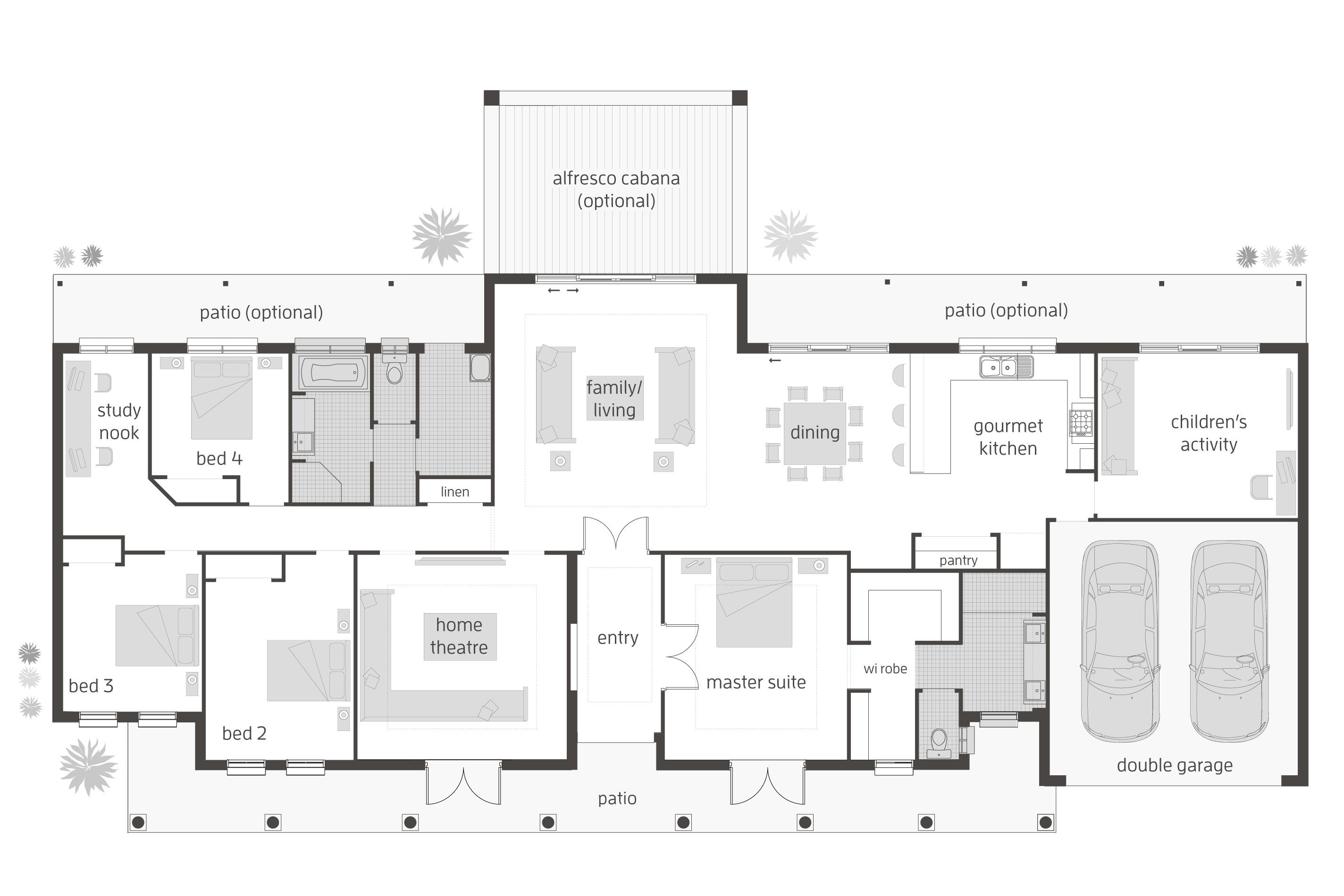 cottage country farmhouse design acreage home floor plans australia house