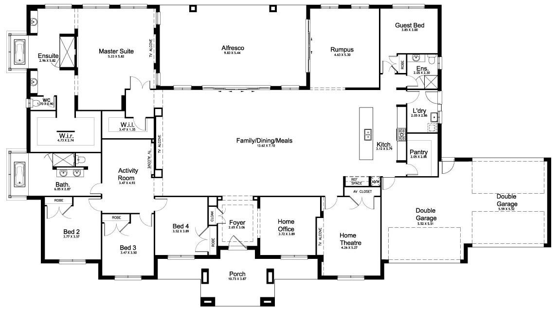 floor plan friday 5 bedroom acreage home
