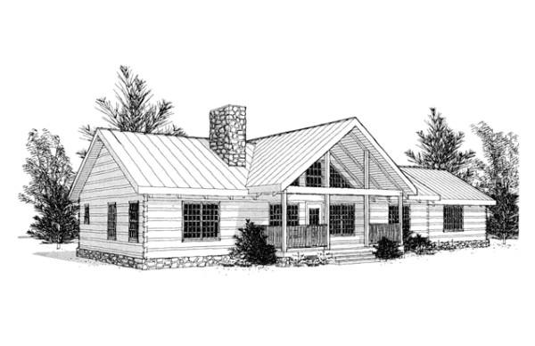 clark mountain log home plan