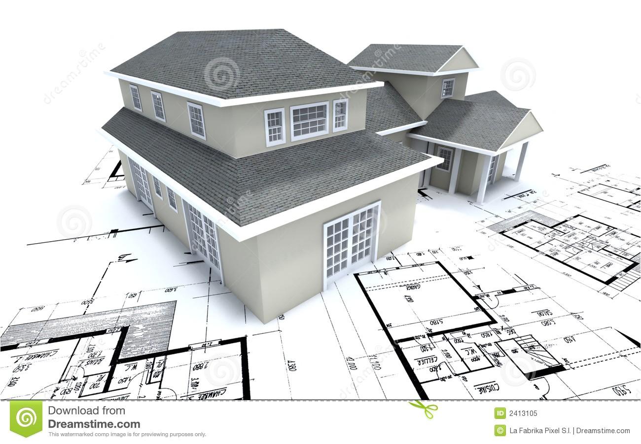 royalty free stock photo house architect plans image2413105