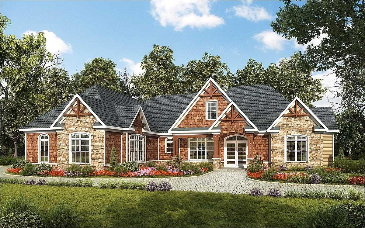 one level luxury craftsman home 36034dk