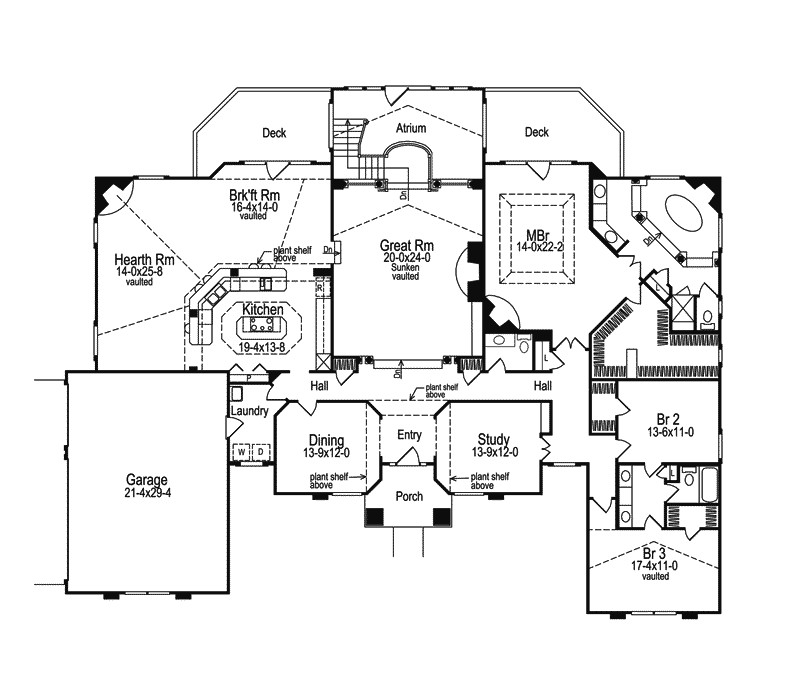Atrium Home Plans Clayton atrium Ranch Home Plan 007d 0002 House Plans and