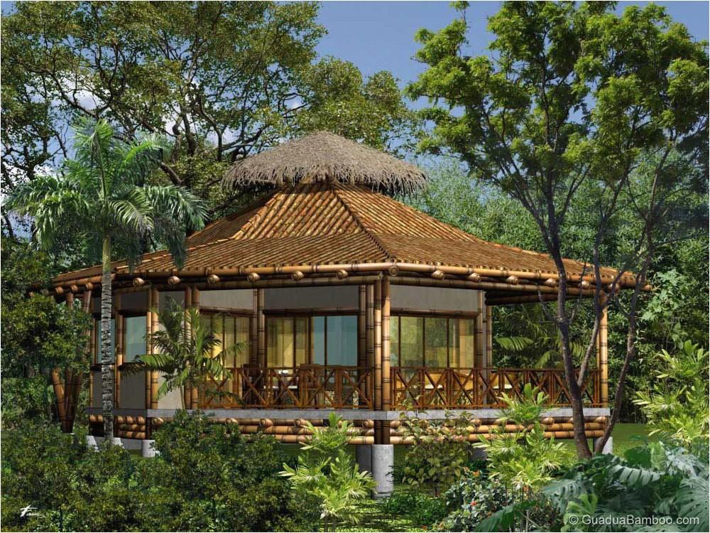 build modern bamboo house plans
