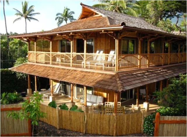 the construction of bamboo house design