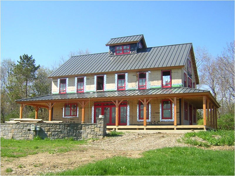 brand new pole barn house