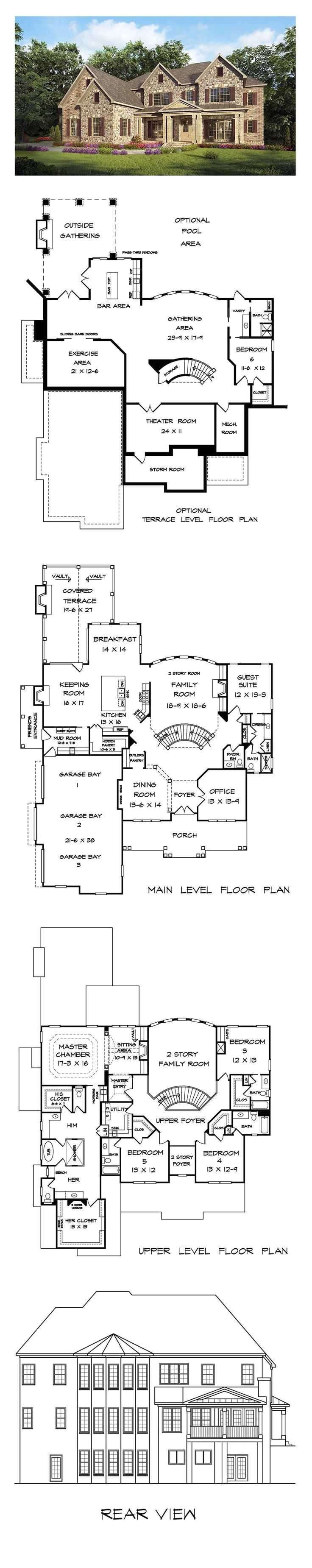 basement only house plans with 458 best dream house plans images on pinterest
