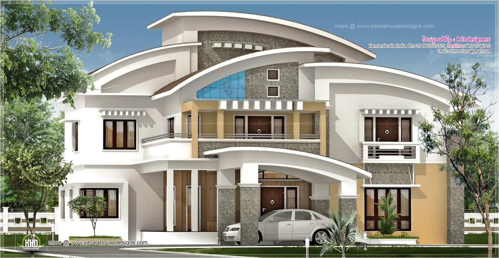 3750 square feet luxury villa exterior